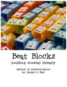 13 lessons and a description of the method to use these. Lessons include several literacy-based lesson, composition, improvisation, dictation, and recorder lessons. They're a no-fail way for students to understand musical concepts such as beat, rhythm, melody, harmony, dynamics, and macro versus micro beat. Beat Blocks Method and Lesson Book - downloadable PDF. $9.99, via Etsy.