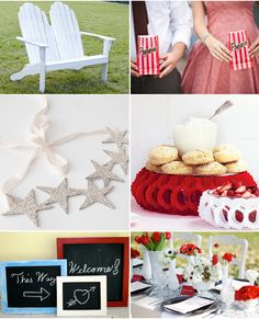 4th of July Wedding Inspiration, Red White and Blue-Picture frames