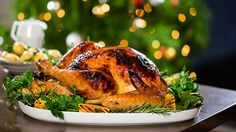 Adam Liaw's orange-glazed with Scarborough Fair stuffing is the perfect centrepiece for your Christmas feast. Watch Destination Flavour Christmas December on SBS ONE. Christmas Lunch, Christmas Cooking, Christmas Things, Christmas Recipes, Holiday Recipes, Xmas, Roast Turkey Recipes, Stuffing Recipes, Georgian Cuisine