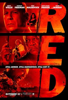 RED movie poster, hollywood,Graphic Design,