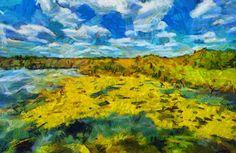 Рисунки из фотографий: Летний заливной луг