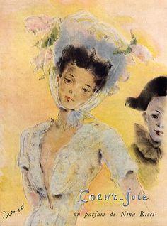 Nina Ricci 'Cœur-Joie', 1946. Illustration Christian Berard