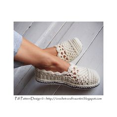 Ravelry: Lacey Wool Slippers pattern by Sophie and Me-Ingunn Santini Crochet Sandals, Crochet Boots, Love Crochet, Crochet Clothes, Crochet Baby, Knit Crochet, Crochet Crafts, Crochet Projects, Crochet Designs