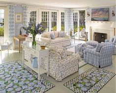 Tour A Dreamy Seaside Cottage Donna Elle Seaside Living … she decorated it. Sh… Tour A Dreamy Seaside Cottage Donna Elle Seaside Living … she decorated it. She sells fabrics, etc too on her sight Coastal Living Rooms, House Styles, Cottage Living Rooms, Cottage Interiors, Home, Country Cottage Decor, Cottage Style Furniture, Beach Cottage Decor, Home Decor
