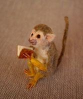 I'll trade you this book for that tiny banana!