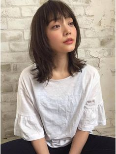 Joemi by Unami Joemi by Unami Long Layers Medium Hair, Medium Hair Cuts, Medium Hair Styles, Pelo Ulzzang, Ulzzang Hair, Japanese Haircut, Japanese Hairstyle, Hair Scarf Styles, Shot Hair Styles