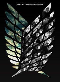 【 Attack on Titan 進撃の巨人 】 Wallpaper, wings