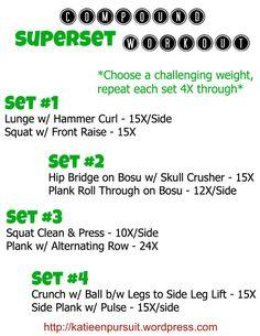 Compound Superset Workout