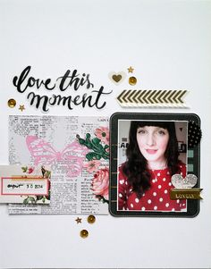 #Papercraft #Scrapbook #Layout. Love this moment by Sockergrynet at @studio_calico