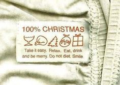 Christmas to-do list: nothing. Just relax, eat, drink, smile, be merry. Christmas Labels, Noel Christmas, Merry Little Christmas, Christmas And New Year, All Things Christmas, Winter Christmas, Christmas Crafts, Merry Xmas, Christmas Clothing
