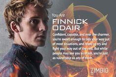 I'm Finnick Odair! Which 'Hunger Games: Mockingjay' character are you? #Mockingjay #ZimbioQuiz