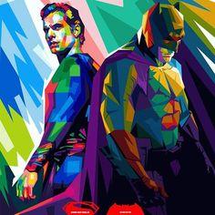 Batman vs superman dawn of justice art by Batman Pop Art, Superhero Pop Art, Im Batman, Batman Vs Superman, Superhero Logos, Superman Dawn Of Justice, Superman Wonder Woman, Dc Comics Characters, Joker And Harley Quinn