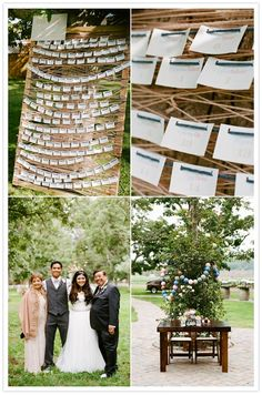 Simple board frame and string (of any pattern or color) to display escort cards.