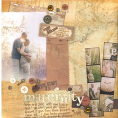 cute maternity layout from Scrapbook.com #scrapbooking #layouts #baby