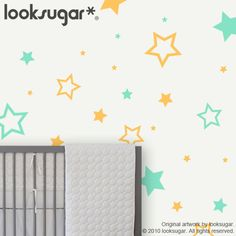 ★Description:  Star Decals in 2 Colors for Childrens Playroom / Baby Nursery  *All our vinyl is made from commercial grade material (German-Engineered, Made in USA), and are manufactured with environmentally friendly production technology. This vinyl has a matte surface that gives a wall paint look.  *All our decals can be removed from your walls without leaving any sticky residue, and will not make any damage to your wall paint. Perfect for rented space.  SKU: Star Wall Decals - LSWD-00...