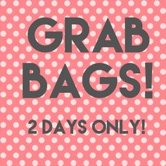 APRIL GRAB BAGS ARE HERE!!     Our monthly appreciation gift to our customers ❤***Limit 2 per person    Fast, Free Shipping in the USA!    What do you get? $75+ in regular price merchandise for $37!  Over 50% off! And it's a total Mystery!! If you love our pieces, you will love our March Grab Bag!     If you have items currently in our inventory, we will not duplicate. However if you have a previous grab bag we will need to know what you have if the items are still in our inventory to avoid…