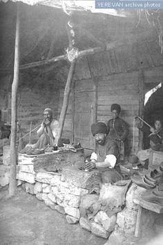 Persian shoemakers in Yerevan, Armenia 1916