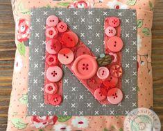 Button Lover's Club: Button Monogram Pillow