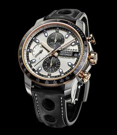 Chopard Grand Prix de Monaco Historique Collection. The Grand Prix de Monaco Historique collection from Chopard is composed of three models - the Automatic, the Power Control with a power-reserve indicator placed at 6 o'clock, and the Chronograph. While maintaining a strong association with the racing world, each of them is also available in a dressier and more precious rose gold, titanium and steel interpretation.
