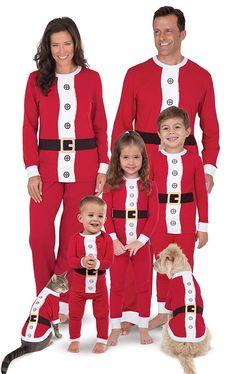 f1f03d08ee Santa Suit Christmas Matching Family Pajama Set- Red - CW12CDF7VFX