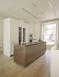 clever use of a cupboard - can separate a scullery area bulthaup by Kitchen…