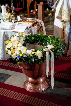 Baptism Decorations, Baby Baptism, Table Arrangements, Decoration Table, Fonts, Party, Home Decor, Christening, Desk Arrangements