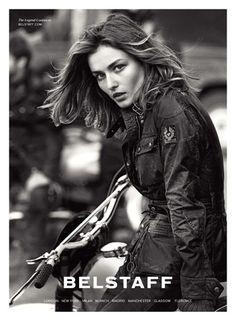 Andreea Diaconu for Belstaff Leather Jackets Campaign 2014 by Peter Lindbergh Peter Lindbergh, Belstaff Jackets, Belstaff Uk, Rockabilly Cars, Advertising Photography, Biker Style, Biker Girl, David Beckham, Outerwear Women