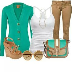 I ♡ everything, the colors the shoes, pants, shirt, cardigan, purse and glasses.
