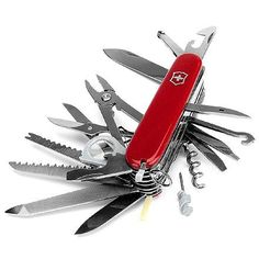 Dads Everywhere Rely On It: Backcountry Survival to Repairing Stuff at Home — Victorinox Champ Swiss Army Knife