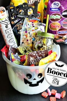 #BooitForward this Halloween with a fun basket filled with goodies and treats! So cute!