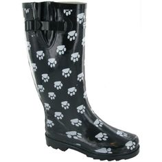 womens Cotswold Ladies Dog Paw Patterned Rubber Welly Wellington Boot Black Rubber *** Details can be found by clicking on the image. (This is an affiliate link and I receive a commission for the sales) #Outdoor