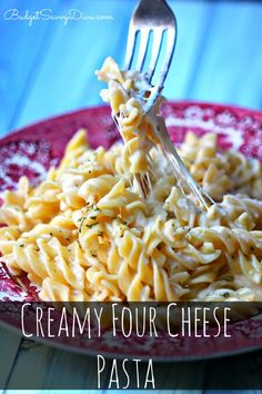 MUST Make RECIPE!!! SUPER Cheesy - Must Pin and Make!!! Simply add gluten free pasta to make this dish gluten free - DONE in Under 20 minutes! Cream Four Cheese Pasta Recipe – Marie Recipe #recipe #pasta #cheesy #creamy #cheese #dinner #easyrecipe #kidfriendly #budgetsavvydiva via budgetsavvydiva.com