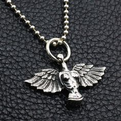 Men's Sterling Silver Angel Necklace - Jewelry1000.com