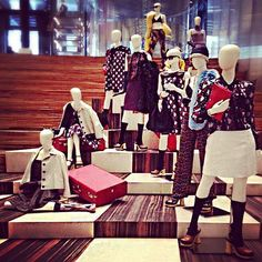 """PRADA,New York, 'Saying Goodbye:...the paradox of saying goodbye;departures can be both painful and pleasant"""", pinned by Ton van der Veer #visualmerchandising"""