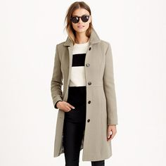 Double-cloth lady day coat with Thinsulate® : wool | J.Crew
