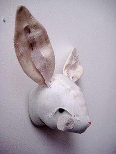beestenkop konijn voor op de muur
