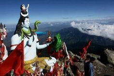 shiva idol at churdhar,shivalik ranges himachal .
