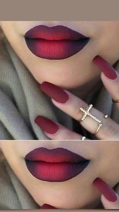 Red Lipstick Makeup Looks, Red Eye Makeup, Lipstick Art, Dark Skin Makeup, Lipstick Colors, Lipsticks, Sparkle Lipstick, Matte Lipstick Shades, Lip Art