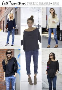 FRANKIE HEARTS FASHION: Looking Ahead Fall Transition: Oversized Sweaters & Jeans