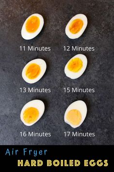 Perfect Air Fryer Hard Boiled Eggs {Easy to Peel} - - These Air Fryer Hard Boiled Eggs are cooked to perfection EVERY TIME! It's the best way to cook hard boiled eggs and I'll share my favorite tips with you and take all of the guesswork out. Air Fryer Recipes Eggs, Air Frier Recipes, Air Fryer Dinner Recipes, Easy Hard Boiled Eggs, Cooking Hard Boiled Eggs, Hard Boiled Egg Recipes, Best Boiled Eggs, Hard Boiled Egg Breakfast, Cooking Eggs