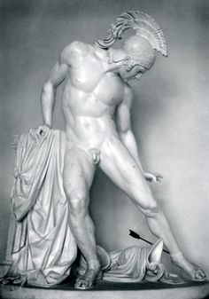 The Wounded Achilles, Filippo Albacini 1777-185. Achilles was the best fighter of the Greeks besieging Troy in the Trojan War.