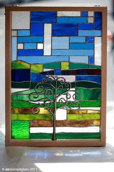 ZN Stained Glass - Spring Tree