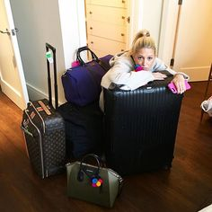 """Pin for Later: Princess Maria-Olympia of Greece Isn't Prince Harry's """"New Lady"""" —She's Our Style Icon Maria-Olympia's Got the Most Stylish Monogrammed Luggage on the Block"""
