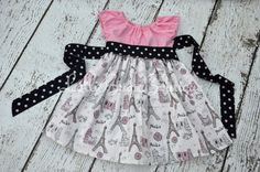 Glittery Paris Peasant Dress with Sash Toddler by LolliBugBoutique Girly Stuff, Girly Things, Sash, Paris Fashion, Summer Dresses, Patterns, Trending Outfits, Awesome, Girls