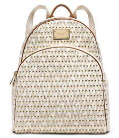 MICHAEL Michael Kors Jet Set Studded Backpack in Vanilla