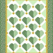 Sweet+hearts+Baby/Lap+quilt+Top+-+via+@Craftsy