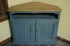 I Restore Stuff: Miss Mustard Seed Milk Paint - Flow Blue - Corner Cabinet