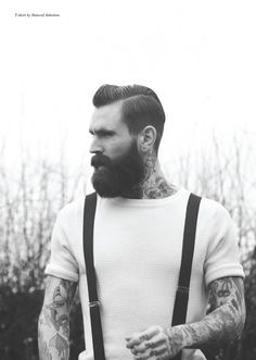 Shane just got his haircut like this (Ricki Hall in the photo) and I think it pairs really well with his full beard