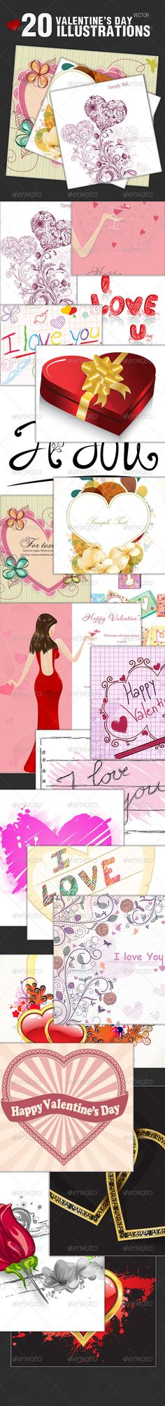 VECTOR DOWNLOAD (.ai, .psd) :: http://jquery.re/pinterest-itmid-1001452711i.html ... 20 Valentines Day Vector Illustrations ...  box, concept, day, female, floral, girl, happy, heart, i love you, illustration, lady, love, present, rose, silhouette, valentine, vector, woman  ... Vectors Graphics Design Illustration Isolated Vector Templates Textures Stock Business Realistic eCommerce Wordpress Infographics Element Print Webdesign ... DOWNLOAD…