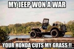 Too awesome not to Pin. Yes, the Jeep has a proud Military heritage!